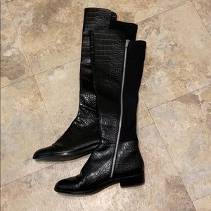 Michael Kors black leather boots 8.5